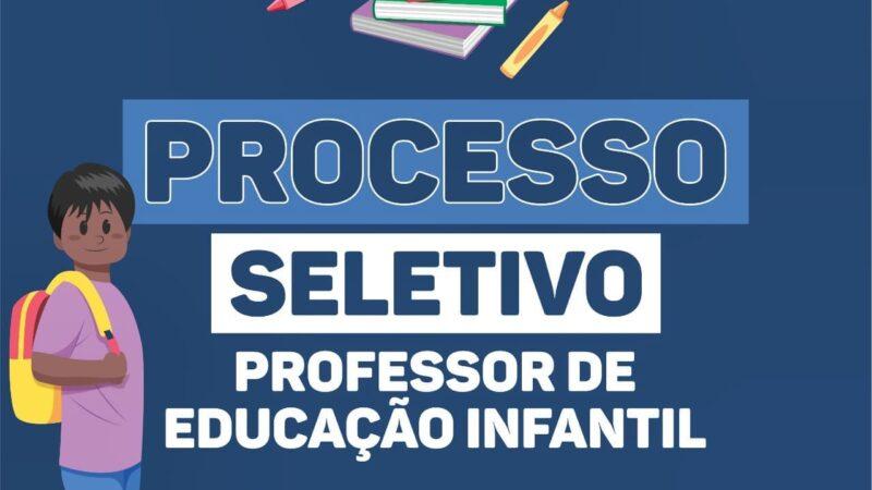 Aberto processo seletivo para contratação de Professores da Educação Infantil