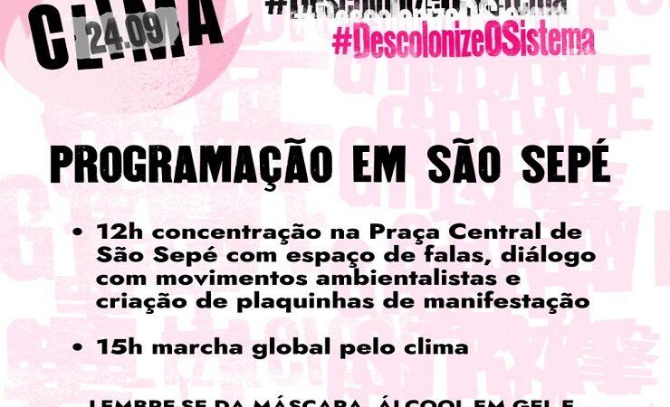 Contagem regressiva para a Marcha Global pelo Clima em São Sepé