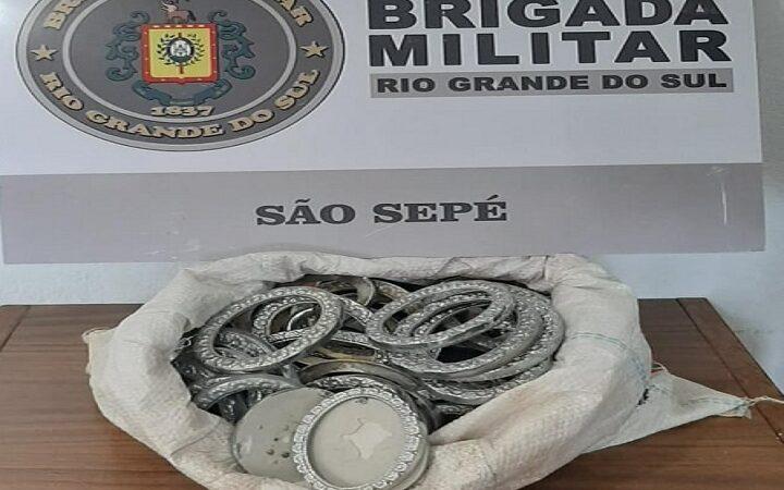 Brigada Militar prende homem com objetos furtados do Cemitério Municipal
